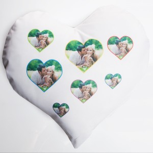 Herzkissen bedrucken als Geschenk