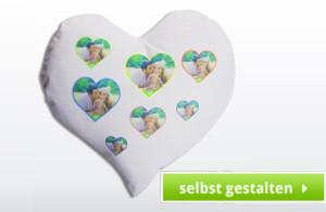 Herz Kissen mit Bild