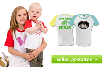 Kinder Baseball Shirt bedrucken