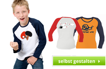Kinder Langarm Babseball Shirts bedrucken