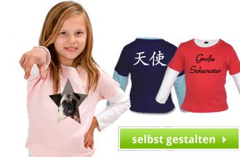Kinder Longshirt bedrucken