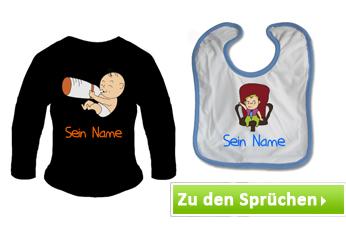 Babykleidung mit Baby Motiven Sprüchen bedrucken