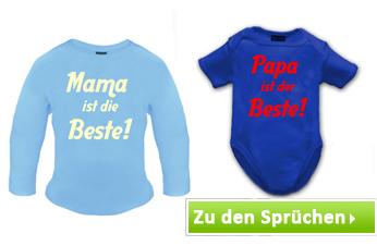 Baby T-Shirts mit Baby Sprüchen bedrucken