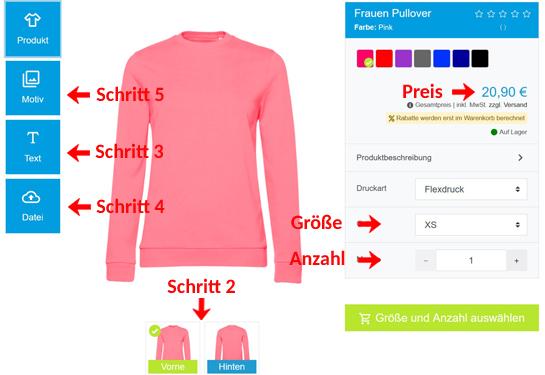 Wie kann man Frauen Pullover gestalten?