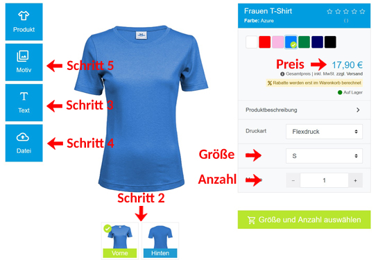 Wie kann man Frauen T-Shirts gestalten?