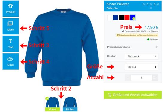 Wie kann man Kinder Pullover gestalten?