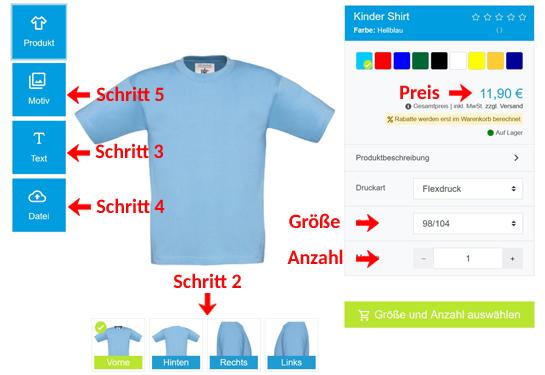 Wie kann man Kinder T-Shirts gestalten?