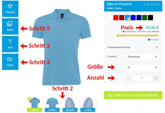 Wie kann man Poloshirts gestalten?