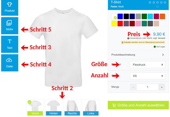 Wie gestaltet man ein T-Shirt?