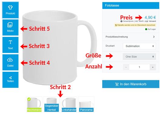 Wie gestaltet man eine Tasse?
