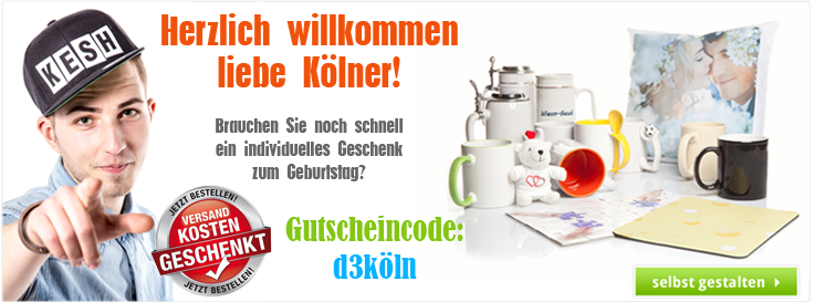 Gutscheincode für Kunden aus Köln - Spare die Versandkosten!