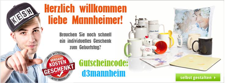 Gutscheincode für Kunden aus Mannheim - Spare die Versandkosten!