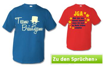 T-Shirts mit Junggesellenabschied Sprüchen bedrucken