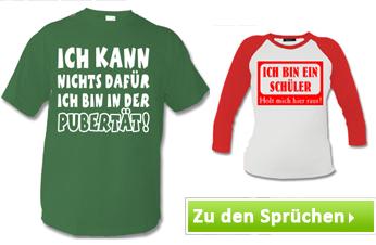 T-Shirts mit Kinder Sprüchen bedrucken