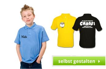 Kinder Poloshirts bedrucken