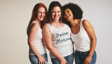 Frauenkleidung bedrucken