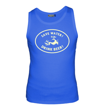 Muskelshirt mit Spruch - Save Water! Drink Beer!