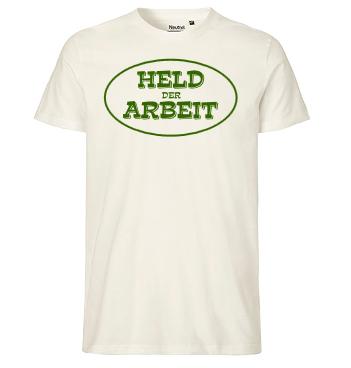 Organic Shirt mit Spruch - Held der Arbeit
