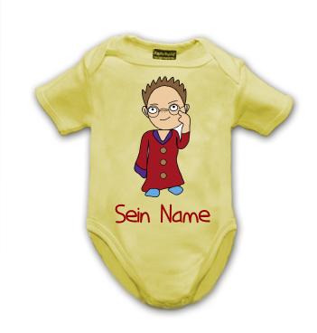 Baby Body mit Motiv Professor