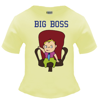 Baby Shirt mit Spruch - Big Boss