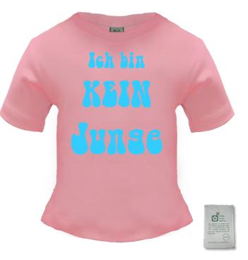 Organic Baby Shirt in Rosa mit dem Spruch - Ich bin kein Junge