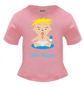 Baby Shirt mit Motiv Frechdachs zusätzlich mit eigenen Namen gestalten