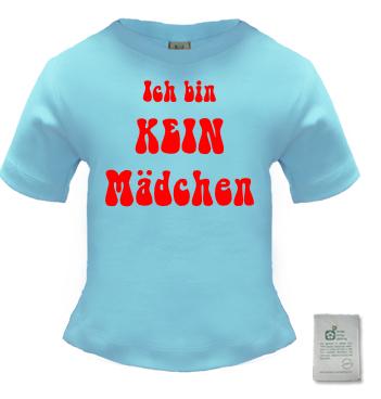Baby Shirt mit Spruch - Ich bin kein Mädchen