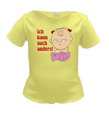 Lap Shirt mit Mädchen Spruch - Ich kann auch anders