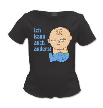 Lap Shirt mit Jungen Spruch - Ich kann auch anders!