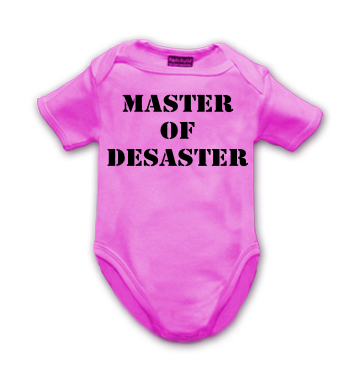 pinker Body mit Spruch - Master of Desaster