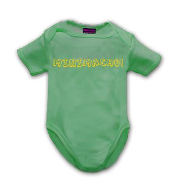 grüner Body mit Spruch - Minimacho