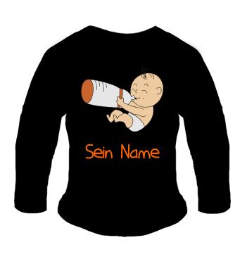 Baby Langarm Shirt mit Motiv der Nimmersatt oder der Gefräßige