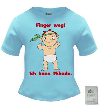 Organic Longshirt mit Spruch - Finger weg! Ich kann Mikado.