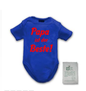 Baby Body mit Spruch - Papa ist der Beste!