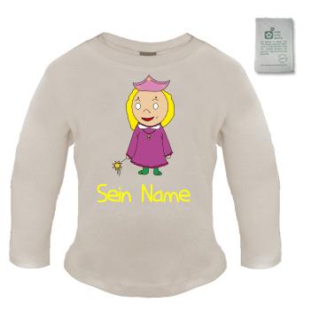 Organic Langarmshirt mit Motiv Prinzessin