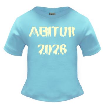 Babyshirt blau mit Spruch Abitur 2026