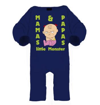 Schlafanzug mit Spruch - Mama und Papas little Monster