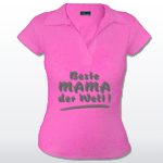Poloshirt mit Spruch Beste Mama der Welt