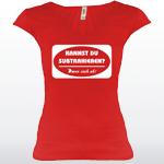Damen Shirt V mit Spruch kannst du Subtrahieren? Dann Zieh ab!