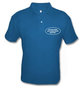 Kinder Poloshirt mit Spruch - Ich bin jung, Ich kann nicht warten!