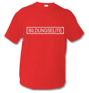 rotes Kinder Shirt mit Spruch - Bildungselite