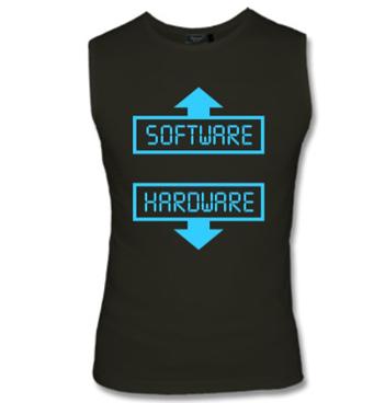 Muskelshirt mit Spruch - Software - Hardware