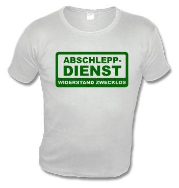 Slim Fit Shirt mit Spruch - Abschlepp-Dienst - Widerstand zwecklos