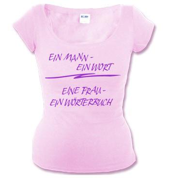 Mellrose Shirt mit Spruch - Ein Mann - Ein Wort - Eine Frau - Ein Wörterbuch