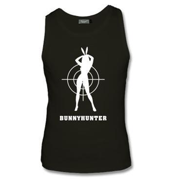 Schwarzes Muskelshirt mit Spruch - Bunnyhunter