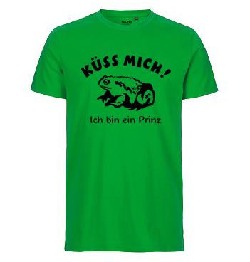 Organic Shirt mit Spruch - Küss mich - Ich bin ein Prinz