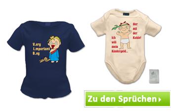 Babykleidung mit Baby Sprüche und Motive bedrucken