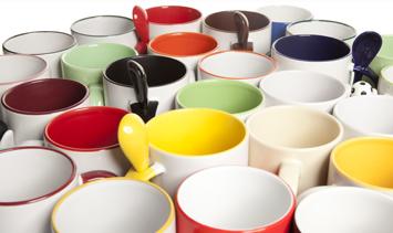 Individuelle Designs für den Tassendruck