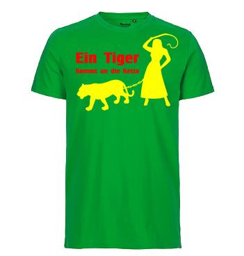 Junggesellenabschied Spruch: Ein Tiger kommt an die Kette.