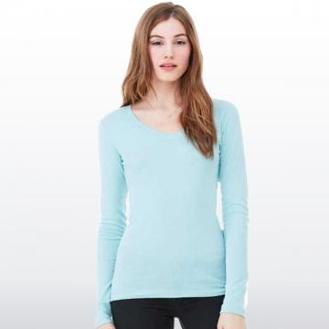 Damen Langarm Shirt   Grau | XXL
